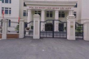 Địa chỉ Tòa án nhân dân quận Cầu Giấy